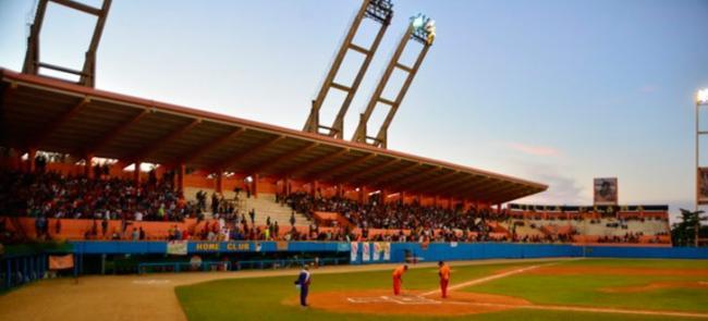 Estadio de béisbol en Cuba.