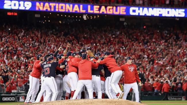 Los Nacionales de Washington, campeones de la Liga Nacional.