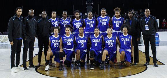 Equipo de baloncesto femenino cubano.