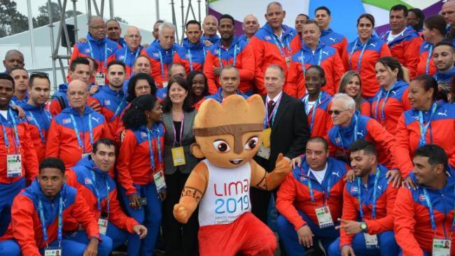 Parte de la delegación cubana en los Panamericanos de Lima 2019.