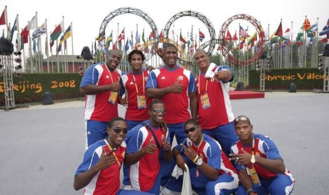 Deportistas cubanos en Pekín 2008.