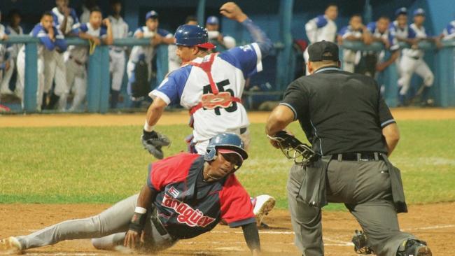 Partido de playoff entre Industriales y Camagüey en la finalizada temporada.