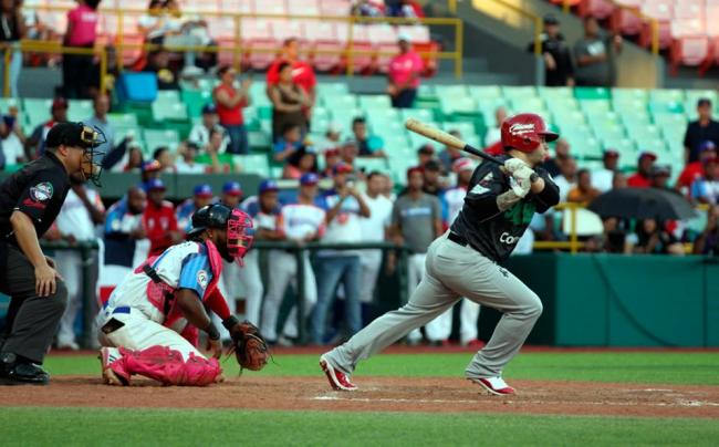 Partido de la Serie del Caribe 2020 entre México y Puerto Rico.
