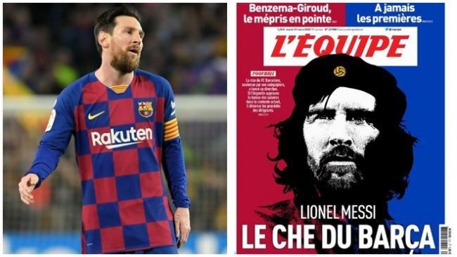 Lionel Messi y la portada de L'Equipe