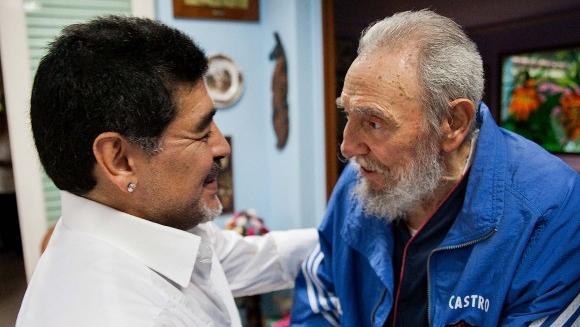 Maradona y Fidel Castro.