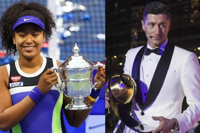 Osaka y Lewandowski, los mejores atletas del 2020