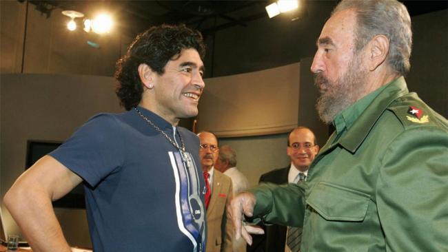 Diego Armando Maradona y Fidel Castro.