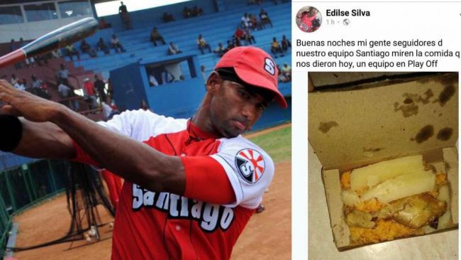Edilse Silva y una captura de pantalla de la publicación.
