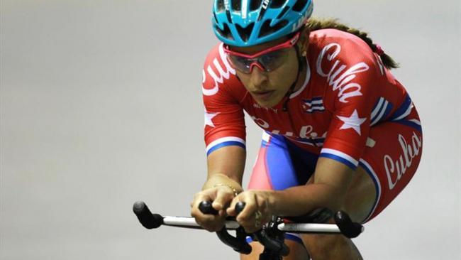 La ciclista cubana Arlenis Sierra.