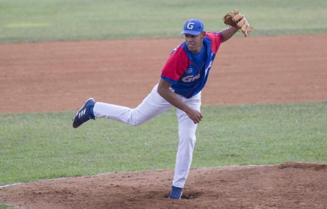 Joel Mojena, pitcher de Granma.