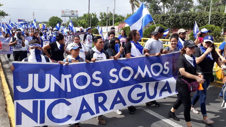Opositores nicaragüenses.